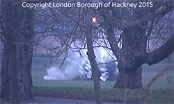 WW2 bomb going of in Clissold Park