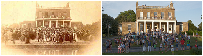 Clissold House 1889 and 2014