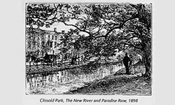 Clissold Park, The New River and Paradise Row, 1898
