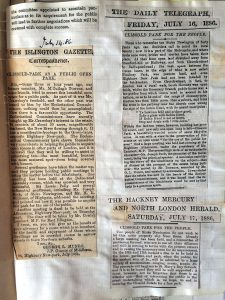 News clippings from 1886 (click to enlarge)